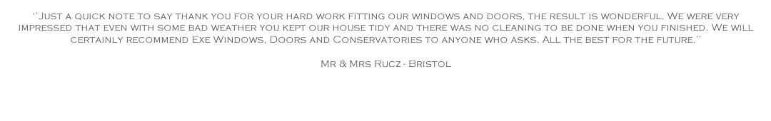 Exe Windows Doors & Conservatories Reviews
