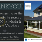 Receive up to £90 in vouchers with Exe Windows Doors and Conservatories